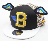 Wholesale New Fashion Cartoon Flat Along the Cap lovely Children Candy color Baseball Hat Embroidery Boy Girl Outdoor leisure Hip Hop Cap
