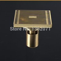 Wholesale New Arrival Brass Bathrooom Floor Drain Shower drainer Solid anti odor Floor Drain
