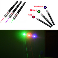 Wholesale Powerful mW nm nm nm nm Green Blue Purple Red Light Lights Beam Laser Pointer Pen Pens Pointers Lasers Free DHL