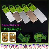 achat en gros de x sim 4s-R-SIM 10+ R Carte SIM 10plus RSIM 10+ Rsim10 + Déblocage de carte pour iphone 6s 6 5S 5 4S ios9 9.X 3G 4G CDMA Sprint, AU, Softbank s utilisation directe non Rpatch