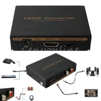 Wholesale 100 High Quality HDMI to HDMI Optical SPDIF Suppport RCA L R Audio Video Extractor Splitter Converter Adapter Connector