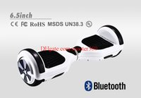 Wholesale New Arrivals inch Bluetooth Music Hoverboard Mobile Phone APP REMOTE CONTROL Scooters wheel Smart Self balancing Electric Scooters