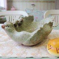 Cheap Creative exquisite handmade clay fruit plate, coffee table ware, dove deep desktop decoration