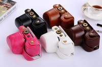 Wholesale High Quality Photo Bag PU vintage Leather Camera Case For SONY Nex6 ILCE A6000 mm With Leather Shoulder Strap Backpack