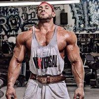 Wholesale New Brand Gym Shark Tank Top Men s Workout Bodybuilding Stringers O neck Cotton Cozy Men Tank Top Golds Gym Vest