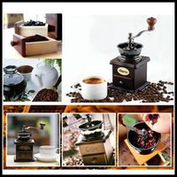antique wooden bowl - 2015 Hario the latest mini manual coffee grinder antique wooden stand bowl manual Mini Grinder for coffee