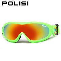 Wholesale POLISI Men Women Outdoor Windproof Glasses Ski Goggles Dustproof Snow Glasses Men Motocross Snowboard Snow Skiing Glasses