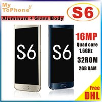Wholesale Free DHL New Arrive S6 G9200 phone Metal Body S6 Quad core MTK6592 GB RAM GB ROM MP GPS Android Lollipop