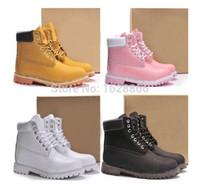 Las mujeres de los hombres del invierno del Al por mayor-Otoño calientan cargadores de la nieve calzan los cargadores de Tims del tobillo del cuero genuino impermeabilizan los cargadores militares de los útiles que caminan el zapato