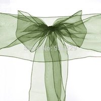 beautiful wedding receptions - Beautiful Classic New Decor Green X Organza Chair Cover Sash Bow Wedding Anniversary Party Reception Decoration