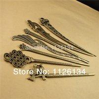 Wholesale 7 Mixed Shape Zinc Alloy Antique Bronze Plated Bookmark