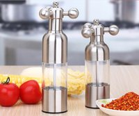 Wholesale Stainless Steel Pepper Grinder Chili Ceramic Mills Manually Operation Cinnamon and Chocolate Mills Nutmeg Mills Salt Mills