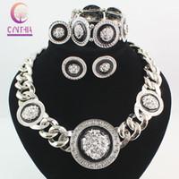 indian head rings - New Vintage Black Enamel Lion Head Myth Medusa Pendant Necklace Earrings Bangle Ring Fashion Party Jewelry Set Colors