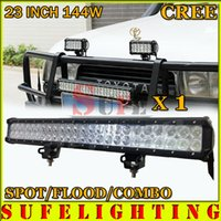 led lights 12v car - 22 quot W cree led light bar Truck Work light x3W off road lamp Car Camper combo V V WD x4 W w