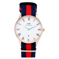 Cheap DW Men's Top Brand Luxury Daniel Wellington Watches DW Watch For Men women Leather strap Japan movement Military Quartz Clock Reloj 40mm