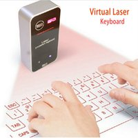 Wholesale Mini Virtual Laser Projector keyboard Portable Bluetooth Wireless Projector with Mouse for iPhone iPad Samsung Xiaomi Huawei IOS Android