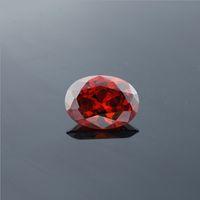 Wholesale for imitation jewelry high quality top dark orange cubic zirconia oval cut Grade AAA OV