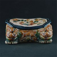 ancient tang dynasty - Tang Dynasty porcelain pillow mandarin ducks FIG Shuangshi do the old retro furnishings antique porcelain antique ancient porcelain collecti