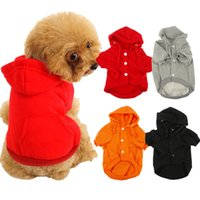 Wholesale MOQ Mixed Colors New Warm Pets Hoodie Coats Puppy Dog Clothes Sizes Puppy Clothing