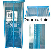 Wholesale Blinds Shades ShutterMagnetic soft screen door curtain quality magnetic stripe curtain partition curtain jacquard fabric Mosquito curtain