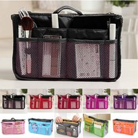 handbag organizer - New Arrivals Women Lady Travel Makeup Insert Handbag Organiser Purse Large Liner Zipper Organizer Tidy Bag Bx84