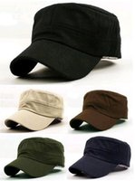 Wholesale 2015 Sale Freeshipping Adult free Unisex Polyester Military Hats New Vintage Military Castro Cadet Patrol Army Cap Hat Colors