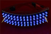 ballroom dancing equipment - LED sunglasses Stage supplies Blue LED glasses Club ballroom supplies The laser dance equipment rechargeable