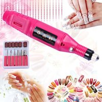 acrylic nail drill bits - 1set Pen Shape Professional Electric Manicure Machine Nail Drill art Pen Pedicure File Polish Tool Bit Acrylic Feet Care Product