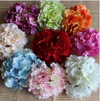 Wholesale Delicate Wedding Hydrangea With Pole DIY Wedding Headdress Flowers Aritificial Hydrangea Mutil Colors cm Diameter