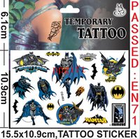 Wholesale 100 Batman waterproof cartoon tattoo stickers Batman men Batman kids gifts toys Temporary Tattoos Stickers