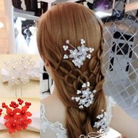 hair grip pin - Exquisite Bridal Hair Clips Hair Pins Pearls Silk Flowers Wedding Party Bride Hair Grips Accessory