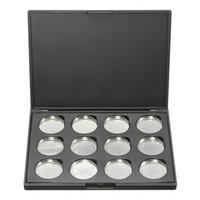 aluminum pigments - Professional Empty Magnetic Make Up Eyeshadow Pigment Aluminum Palette Pans Case Makeup DIY Tools Grid