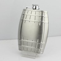 barrel funnel - Oak barrels Trolltech Hip Flask oz Portable Flagon Stainless Steel Jug V Stuttgart Ale Whiskey Wine Pot with small glass funnel