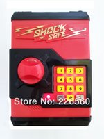 Wholesale Piece RED Shock Safe Coin Bank Electronic Locks Code Money Box Sharp Shock Protection