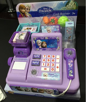 cash register - Retail NEW Voice glowing frozen Multi function cash register Play educational toys Elsa Anna girls gift Of genuine