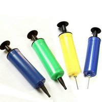 Wholesale Portable Hand Push Air Pump With Needle Nozzle Ball Balloon Tool Inflator Pump
