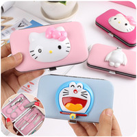 Wholesale New Hello Kitty Manicure Pedicure Tool Makeup Cosmetic Nail Set Kit with Box