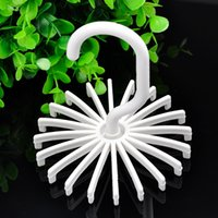 Wholesale Hot sales New High Quality White Rack Rotating Hook Tie Holder Piece Holds Ties Belts Scarves Hanger X60 JJ0306W S1