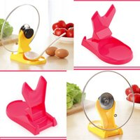 Wholesale 1pc Design Kitchen Tool Good Helper Mini Pot Pan Cover Lid Shell Stand Holder