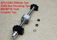 ball nut housing - 1204 ballscrew set SFU1204 L350mm Ball screw C7 Nut Housing BK BF10 Support mm coupler