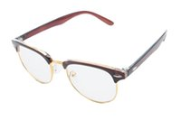 Wholesale 2016 New Womem Men Fashion Eyeglasses Frame Plain Plastic Optical Eyewear Full Rim Reading Computer Glasses Clear Lens Spectacle Color
