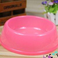 plastic dog bowl - Transparent Plastic Pet Bowl Dog Feeding Bowl