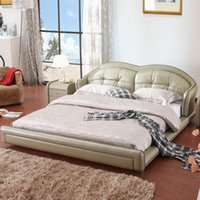 Wholesale bed new pinter for leather bed High grade double bed Contemporary and contracted leather bed