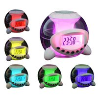alarm clock natural - New Charming Multi function Digital Alarm Clock with Color Changing Natural Sound LED Night Light Calendar Temperature Clock