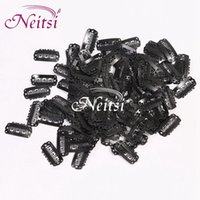 Wholesale Neitsi Black Size cm cm cm Optional Metal Hair Snap Clips U Snap Clips for Hair Extensions Hair Accessores Tools