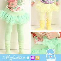 Wholesale Korean version of children s clothing autumn new girls cotton candy colored girls Pompon net veil pants