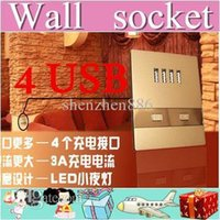 Wholesale 5pcs USB charging wall socket dormitory dedicated outlet outlet station airport ma