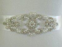 Wholesale 2015 New Fashion Crystals Wedding Sashes Pearls Rhinestone Bridal Belts Bead Sash Ribbon Belt Bridal Accessories Sash Belts