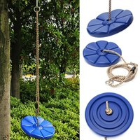 Wholesale 1PCS Hign Quality Fun Durable Plastic Swing Set Play disc SWING Seat Tree Swing Disk Blue Garden Kids Children Toy