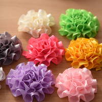 Wholesale 60pcs Carnation fold over flower cm Newborn hair flower baby accessory baby girls hair accessories DIY flower ruffles baby flower